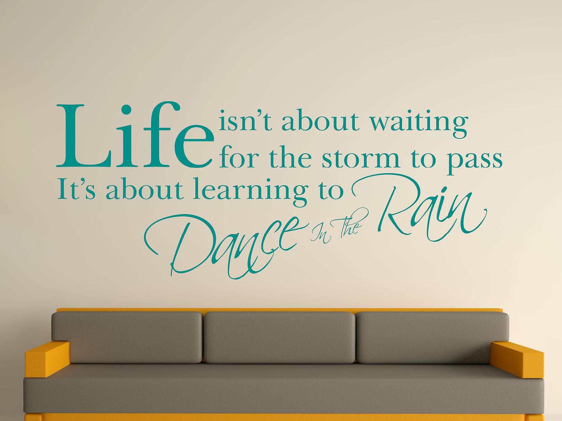 Dance In The Rain Wall Art Sticker - Aqua Green