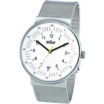 Braun BN0082WHSLMHG 66519-unisex wrist watch white stainless steel
