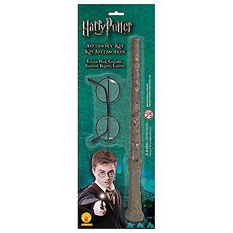 Harry Potter blemme Kit kostyme satt magiske stang og briller