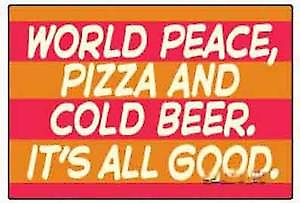 World Peace, Pizza and... funny fridge magnet