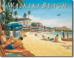 Waikiki Beach metal sign