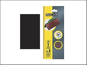 Flexovit 1/2 Sanding Sheets Orbital 115 x 280mm Plain Fine 120g (10)