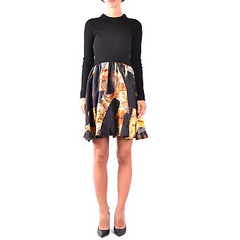 Moschino svart sidenklänning