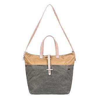 Roxy Womens Stripey Love Large Crossbody Bag - Turbulence Gray/Tan