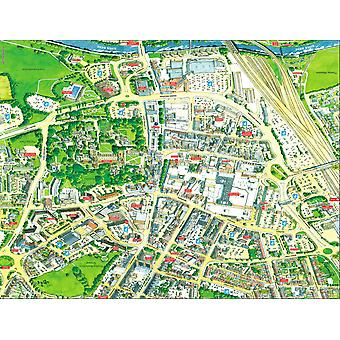 Stadtbilder Stadtplan von Peterborough 400 Stück Puzzle 470 x 320 mm (Hpy)