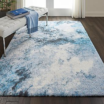 Corsica Shag CRC04 Blue Multi  Rectangle Rugs Modern Rugs