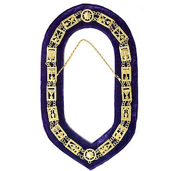 Cryptic Mason-Royal & Select Chain Collar-Gold/Silver On Purple + Free Case