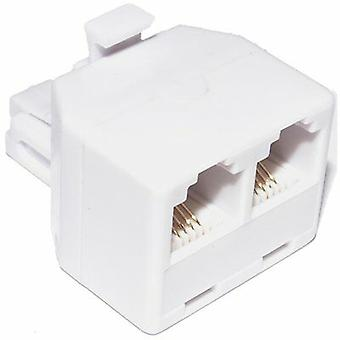 2 Way rj11 adsl Modular Phone Telephone Wall Splitter 4 Pin 4 Connector
