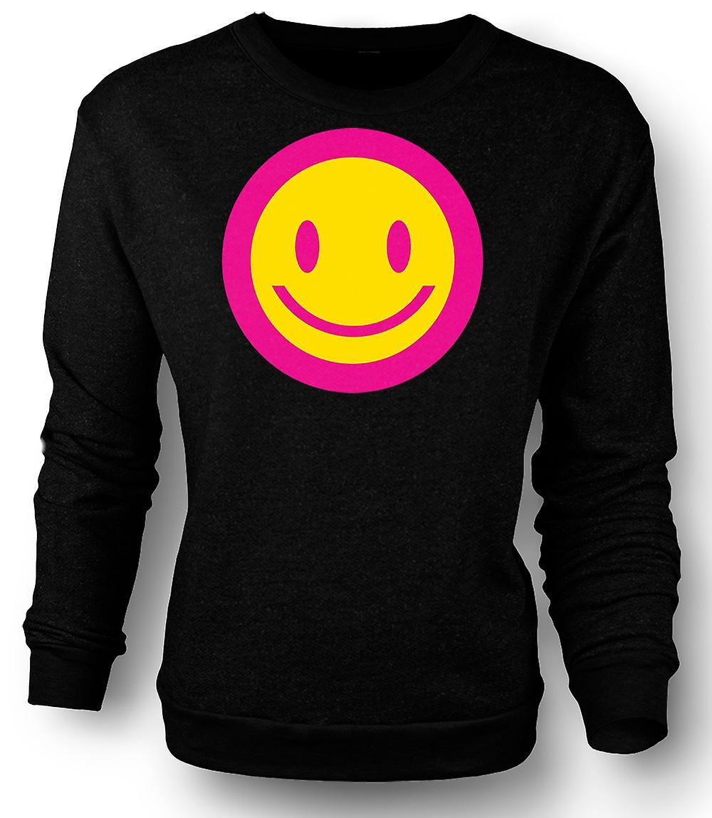 Mens Sweatshirt rose Smiley Face - acide Kids