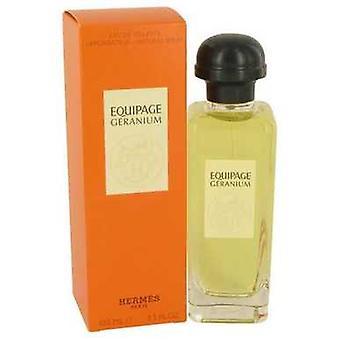 Equipage Geranium de Hermes Eau De Toilette Spray 3.3 Oz (femmes) V728-535111