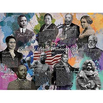 Famous Black History People Poster Series 02 (24x18)