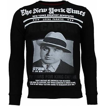 Al Capone-strass tröja-svart
