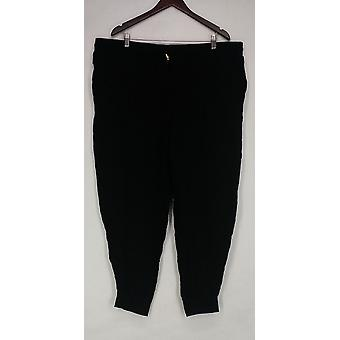 Whitney Port Plus Pants Pull On Jogger Pockets Black A267191
