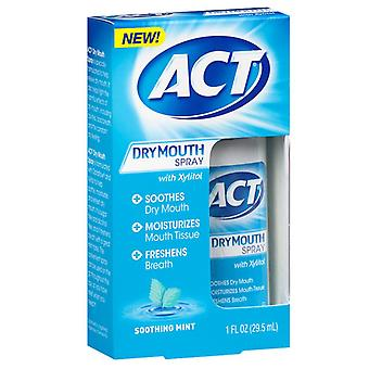 Act dry mouth spray with xylitol, soothing mint, 1 oz