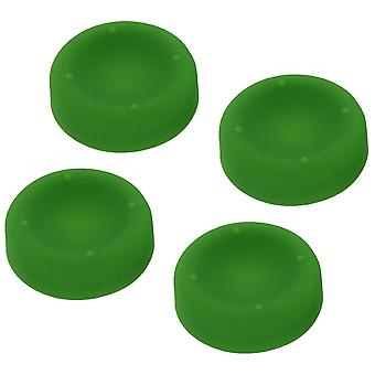 Concave soft silicone thumb grips for sony ps4 controller analog sticks - 4 pack green