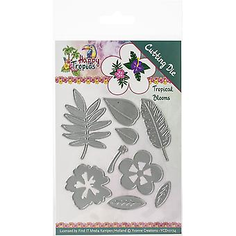 Find It Trading Yvonne Creations Die-Tropical Blooms, Happy Tropics