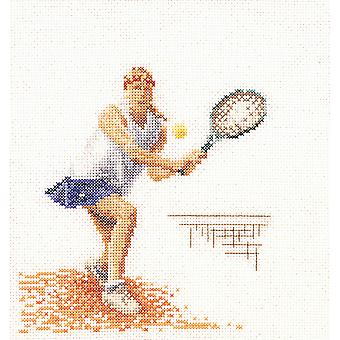 Tennis On Aida Counted Crosss Stitch Kit 6 1 4