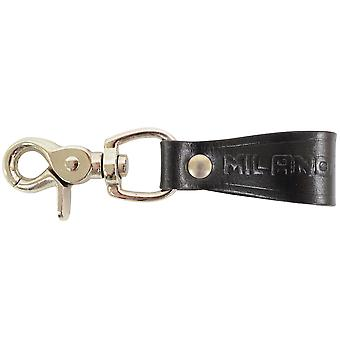Men's Leather Belt Loop Keyring / Clip / Keychain / Key Holder