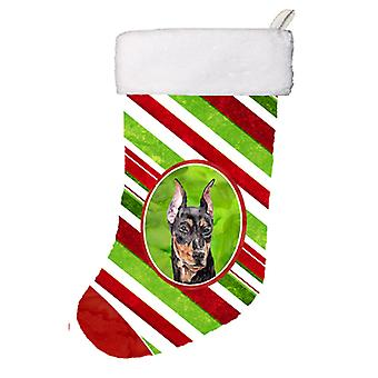 Tyske Pinscher sukkerstang Christmas Christmas Stocking SC9812-CS