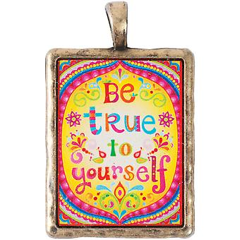 Thaneeya(R) LLC Acrylic Rectangle Pendant 1/Pkg-Be True TM-RECT-069