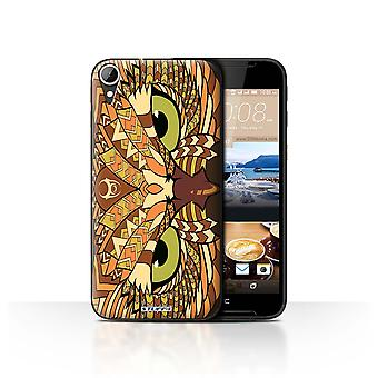STUFF4 Case/Cover for HTC Desire 830/Owl-Orange/Aztec Animal
