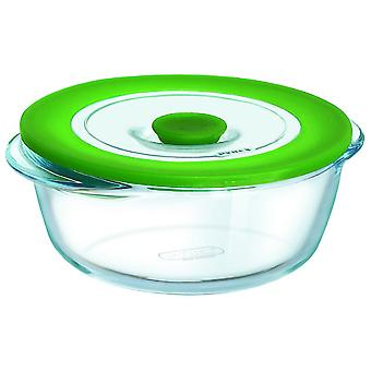 Pyrex Round Container With Lid 15Cm 4In1 Plus (Kitchen , Kitchen Organization , Tuppers)
