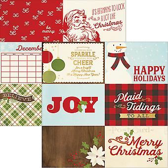 Classic Christmas Foil Double-Sided Elements Cardstock 12x12-4
