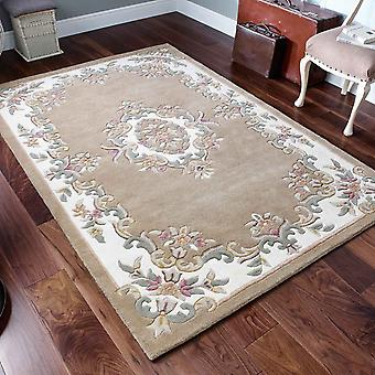 Royal Aubusson Wool Rugs In Beige Cream