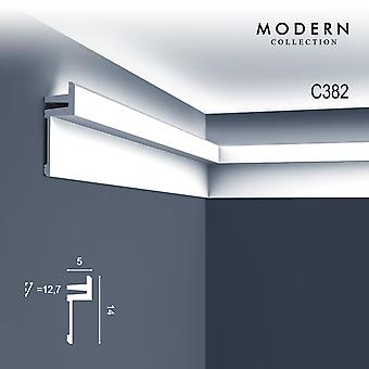 Corner bar ORAC decor C382 MODERN L3 indirect lighting moulding modern design white 2 m