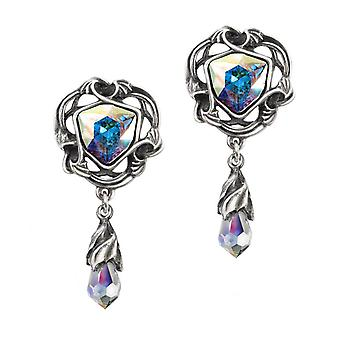 Alchemy Gothic Empyrean Eye Tears From Heaven Drop Earrings