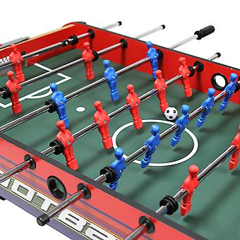 Charles Bentley Football Table Game Soccer Foosball Gaming Table mit Leg Levellers Soft Grip Handles-4Ft