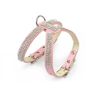 Camon Harness Double Adjustable with Jewelry Imitation Pink