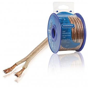 Bandridge 1.5 mm ² speaker cable 30.0 m transparent