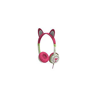iFrogz Little Rockers Kids Kitten Headphones In Hot Pink