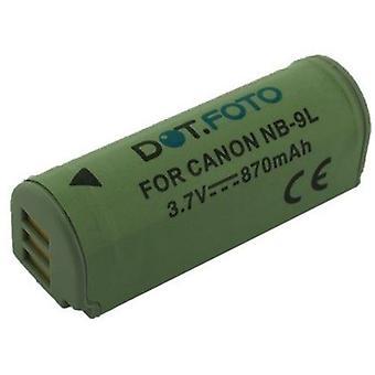 Dot.Foto Canon NB - 9L, NB-9LH batteri - 3.5 ~ 3.7V / 870mAh