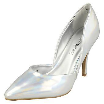 Ladies Anne Michelle High Heel Court Shoes F9986
