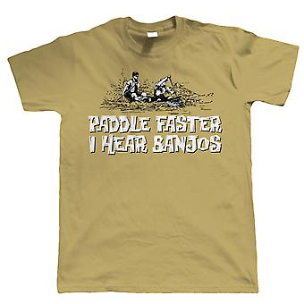 Vectorbomb, Paddle Faster, I Hear Banjos, Funny Canoeing T Shirt (S to 5XL)