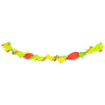 Garland neon XL 3 colors 18 m neon party of 80's 90's Holi crepe paper