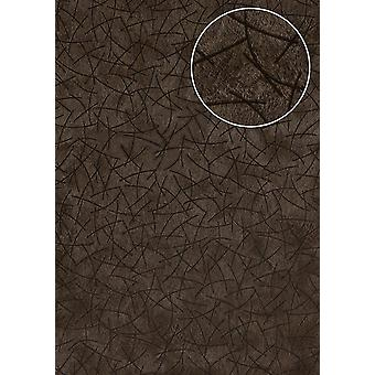 Graphic wallpaper Atlas STI-5106-6 non-woven wallpaper minted in coat patterns shimmering Brown grey brown green brown black 7,035 m2