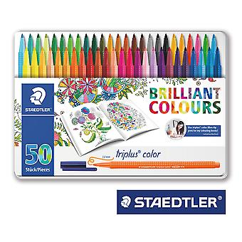 Staedtler Caja Metal 50Rotulador Triplus (Toys , School Zone , Drawing And Color)