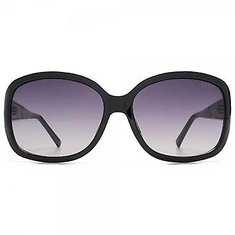 Guess Metal Detail Temple Square Sunglasses In Black