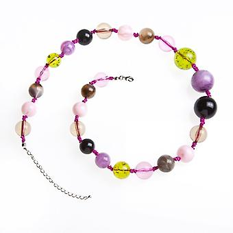 Camille Multi-Coloured Marble Bead Necklace