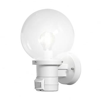 Konstsmide Nemi White Wall Light With PIR Motion Sensor