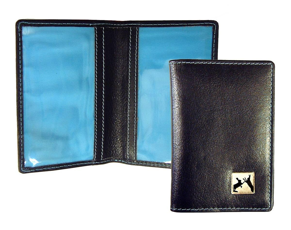 Tyler and Tyler Leather Sparring Hares Travel Card Holder  - Brown