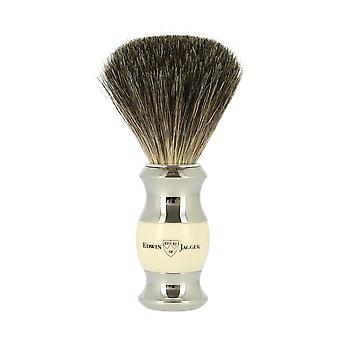 Edwin Jagger Pure Badger Ivory and Nickel Shaving Brush 81sb35711