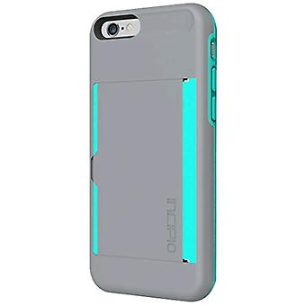 Incipio Stowaway Case Cover for Apple iPhone 6 / iPhone 6S (Gray/Teal) - IPH-118