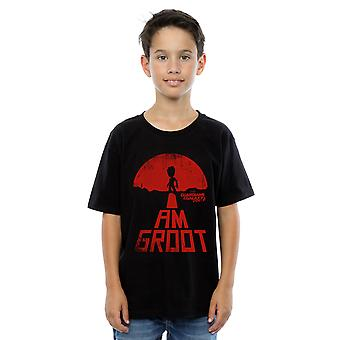 Marvel Boys Guardians of the Galaxy I Am Groot Red T-Shirt