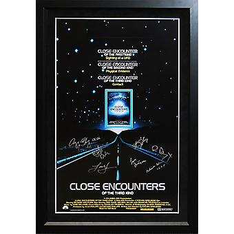 Close Encounters Of The Third Kind - Signed Movie Poster