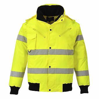 sUw - Hi-Vis Sicherheit Workwear 3-in-1-Bomber-Jacke
