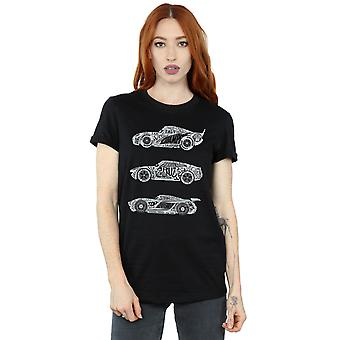 Disney Women's Cars Text Racers Boyfriend Fit T-Shirt